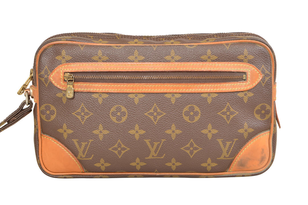 f386299ec6b6 Details about Louis Vuitton Monogram Marly Dragonne GM Clutch Bag M51825 -  YF00121
